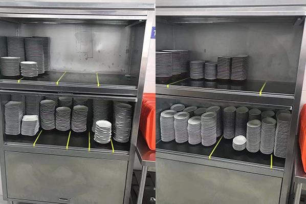 消毒保洁柜整理